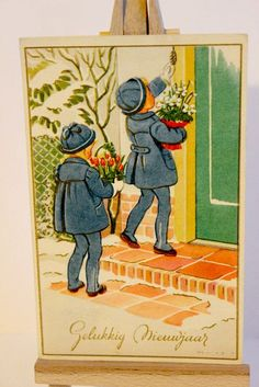 Children Delivering Flowers Beautiful by foxandfablevintage