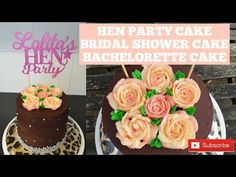 How to Make A Simple Hen Do/ Bridal Shower/ Bachelorette Cake - YouTube Hen Party Cakes, Cake Youtube, Cake Creations, Shower Cakes, Bridal Shower, The Creator, Chocolate, Simple, Desserts
