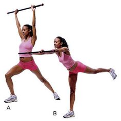 Total-Body Bar Workouts Get the best workout with a body bar Gym Workouts Women, Fit Board Workouts, Fun Workouts, Workout Routines, Fitness Workouts, Weight Bar Exercises, Arm Exercises, Bar Workout, Workout Ideas