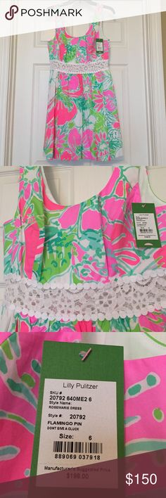 [Lilly Pulitzer] Rosemarie dress Print is I don't give a cluck. NWT. Rosemarie dress. So cute with the Minnie matches! Lilly Pulitzer Dresses