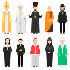 Religion people vector set - Illustrations - 1
