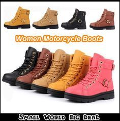 Big Size 2013 Winter New Women's Soft Leather Motorcycle Boots Fashion Fur Ankle Martin Boots For Women Brown Black Eur 35-40 $35.99