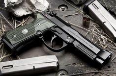 "Wilson Combat /Beretta 92 G Brigadier Tactical w/ Action Tune |9mm 4.7"" Barrel, Trijicon Front Night Sight, Oversize Magazine Release, Wilson Combat Fluted Steel Guide Rod, G10 Grips, 3 15-Round Magazines"