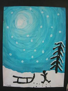 Well the last two weeks have been busy at our school with 4 days of skiing. We lucked out and had beautiful weather with around degrees C. Winter Art Projects, Winter Project, Winter Crafts For Toddlers, Christmas Art For Kids, Globe Crafts, Fox Crafts, Winter Painting, Hand Art, Art Plastique