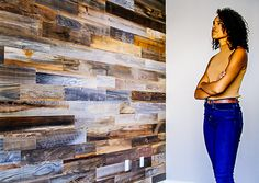 WeekendWalls Peel and stick reclaimed weathered redwood natural 5