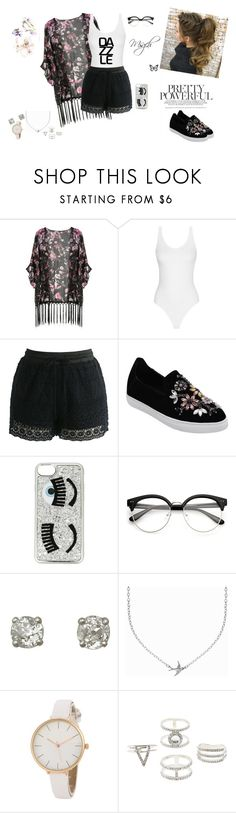 """""""❤ Do not tell you that the sky is the limit, when there are footprints on the moon..🙈🙊✌❤😘😍💞😁😁👍👌❤"""" by mirianlisguerrero ❤ liked on Polyvore featuring Chicwish, Chiara Ferragni, Minnie Grace and Charlotte Russe"""
