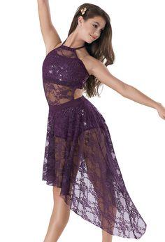 Weissman   Sequin Top & Brief w/ Lace Overdress