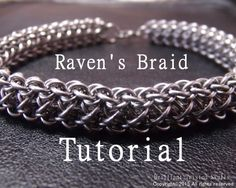 Tutorial for Raven's Braid and adjustable cuff by BrilliantSkulls