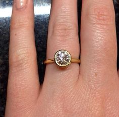 I love this engagement ring that @77Diamonds made for my fiancée,  Thanks guys  #77diamonds #love