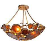 Found it at AllModern - Recycled Fascination 3 Light Semi Flush Mount Ceiling Light