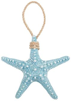 Coastal Decor Brighten the Season Blue Starfish Christmas Ornament Beach Christmas Ornaments, Coastal Christmas Decor, Nautical Christmas, Blue Christmas, Coastal Decor, Christmas Decorations, Coastal Cottage, Coastal Farmhouse, Coastal Bedding