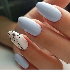 Very cute print on gel nails