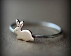 Cute bunny ring on Etsy, I like!