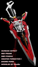 GUNDAM GUY: MG 1/100 Astray Red Frame Kai - Painted Build