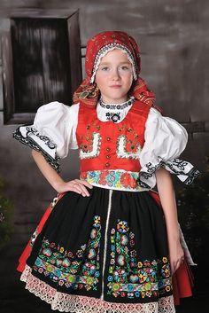 Girl in folk costume, Czechia Polish Clothing, Folk Clothing, Folk Costume, Costume Dress, Costumes Around The World, Beautiful Costumes, Group Costumes, Baby Kind, Ethnic Fashion