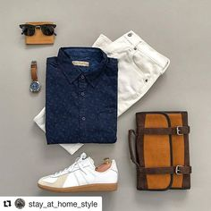 Let's taco 'bout how awesome this outfit is!  #Repost @stay_at_home_style (@get_repost)  Taco Tuesday in White Jeans  What do you think of this look?  Shirt: @niftygenius Jeans: @oldnavy Watch: @timex Wallet: @stevemadden Sunglasses: @hm Sneakers: @adidasoriginals Dopp Kit: @vetellibrand ________________________
