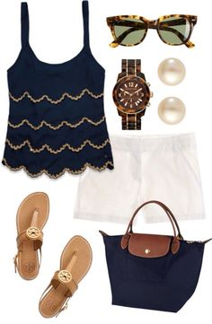 #Summer #Outfits / Loose Tank Top + White Shorts