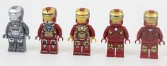 LEGO Iron Man Suits - Photo by Solid Brix Studios