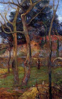 Bare Trees - Paul Gauguin ۞۞۞۞۞۞۞۞۞۞۞۞۞۞ Gaby-Féerie : ses bijoux à thèmes ➜ http://www.alittlemarket.com/boutique/gaby_feerie-132444.html ۞۞۞۞۞۞۞۞۞۞۞۞۞۞