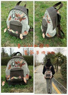 「素儿原创相约」24期猫头鹰双肩包团作统计。规则调整。 Owl Backpack, Quilted Bag, Baby Car Seats, Backpacks, Quilts, Children, Bags, Young Children, Handbags