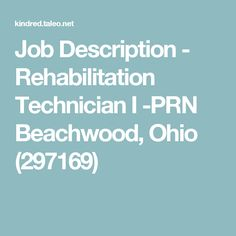 Job Description  Physical Therapist  Prn  University Hospitals