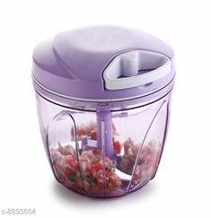 Choppers & Peelers Big Size Chopper 900ml Purple Chopper (Pack Of 1) Material: Plastic Pack: Pack of 1 Length: 13 cm Breadth: 13 cm Height: 14 cm Sizes:  Free Size (Length Size: 5 in Width Size: 5 in) Country of Origin: India Sizes Available: Free Size   Catalog Rating: ★4.1 (8681)  Catalog Name: Colorful Chopper CatalogID_1527066 C135-SC1656 Code: 322-8893604-993