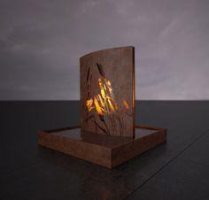Fire and Water Sculpture Modern Outdoor Fireplace, Outdoor Fireplace Designs, Custom Fireplace, Outdoor Fireplaces, Water Sculpture, Steel Sculpture, Fire Pit Art, Fire Pits, Feng Shui