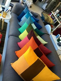 #NormannCopenhagen brick cushions. #colour  Brick, Cushions, Colour, Interior, Throw Pillows, Color, Toss Pillows, Indoor, Pillows