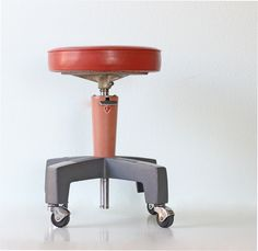Vintage Industrial Medical Stool by American Optical.