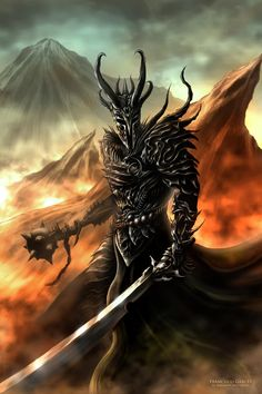 Lord Sauron... the horns are actually very interesting, (and Loki-like) I wonder if Tolkien would like it, considering his mythological tastes...