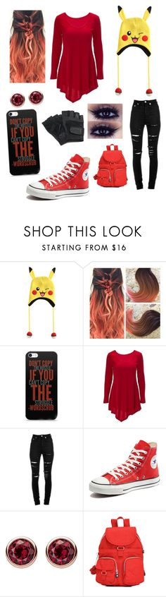 """Random outfit #107"" by rye-claw ❤ liked on Polyvore featuring Nintendo, Yves Saint Laurent, Converse, Thomas Sabo and Kipling"