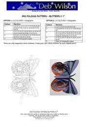 View Butterfly1 Iris Folding pattern Details