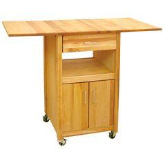Catskill Craftsmen Drop Leaf Cabinet Cart