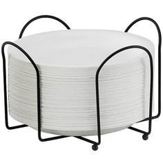 """Cal-Mil 1236 Iron 8 1/2"""" Plate and Napkin Holder"""