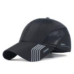 Mens Thin Breathable Quick Dry Hats Outdoor Sunshade Mesh Baseball Caps at Banggood