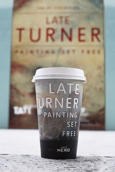 Limited Edition Cup for the Late Turner exhibition: Caffe Nero Cup