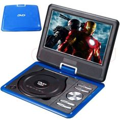 Portable DVD Player LCD Screen Display CD VCD MP3 MP4 USB Home Theater (blue, 7.5 inch) by Bravolink DVD. $55.97. Specification:  Screen: TFT LCD Screen Rotation Angle: 270 degrees rotating screen design,180 degree fliping Game function: Free Game CD included 300 games, Free Game joystick Analog TV functionality PAL, SECAM, NTSC Lens: HITACHI Compatible Disc Formats: RMVB,AVI,RM,DVD, EVD,CD,VCD,DVD, CD-RW,DVD-R,DVD-RW. Supported Video Formats: RMVB,AVI,RM,VOB,MPG,MPEG1,MPEG...
