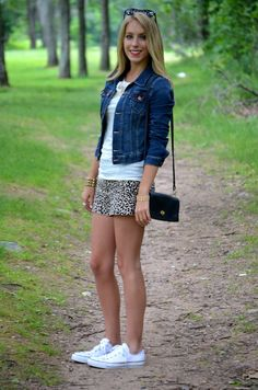 shorts + tee + jean jacket = perfect summer outfit