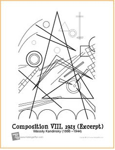 Composition VIII by Wassily Kandinsky| Coloring Page