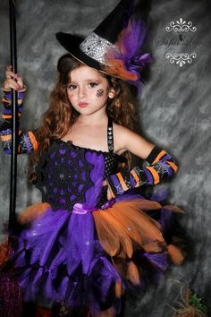 Custom listing for srajag1. Witch Costume ...  sc 1 st  Pinterest & This would be a fun Halloween costume to make. : ) Tutu DIY Witch ...