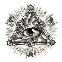all seeing eye tattoo designs 3rd Eye Tattoo, Third Eye Tattoos, All Seeing Eye Tattoo, 4 Tattoo, Tattoo Drawings, Mama Tattoo, Wrist Tattoo, Illuminati Tattoo, Tattoo Ideas