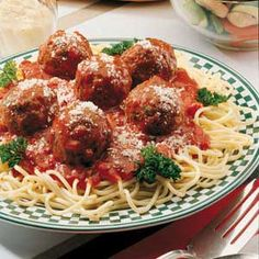 Easy Spaghetti and Meatballs Recipe -WHEN I was a teenager, I cooked dinner every night for our family of four...Mom, Dad, Grandmother, who lived next door, and myself. Through the years, I have modified and changed this recipe for two people to better fit our tastes. That's one of the great things about this dish. It's easy to do just that! -David Stierheim, Pittsburgh, Pennsylvania