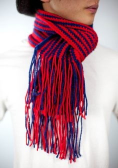 Vintage Crocheted Red and Navy Striped with by CheyenneKansas, $17.00