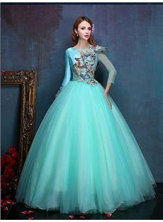 独特デザインの袖付きの綺麗目ロングドレス イブニングドレス