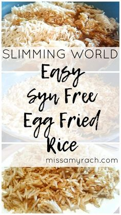 Slimming World Recipe - Easy Syn Free Egg Fried Rice