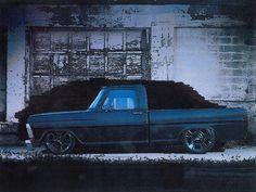 Photo by Kevin Powledge Hot Rod Trucks, Cool Trucks, Truck Art, Motors, Badass, Monster Trucks, Cars, Drawing, Nice
