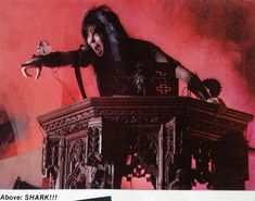 SHARK!!!   Blackie Lawless of W.A.S.P.   #BlackieLawless #wasp   #WaspFanClub