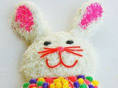 Bunny Cake - I have fond memories of making a cake similar to this one when I was a child. I'm hoping to make this with my daughter now (with a few decorating changes). Love this!!
