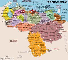 Where is Venezuela Venezuela location maplocation Venezuela globe