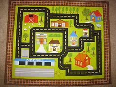 My siblings and I had the best car play mat growing up. My maternal grandmother made it for us out of some canvas-type material. She drew on...